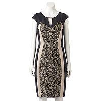Women's Jax Colorblock Lace Sheath Dress