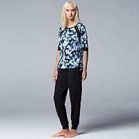 Women's Simply Vera Vera Wang Pajamas: Casting Shadows PJ Set