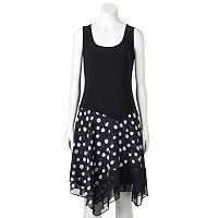 Women's MSK Polka-Dot Fit & Flare Dress