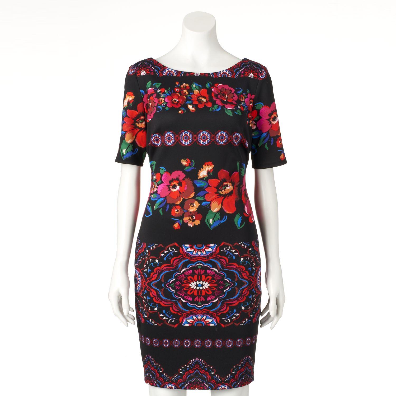 Womens Chaya Abstract Floral Sheath Dress