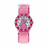 Sesame Street Elmo Kids' Pink Time Teacher Watch