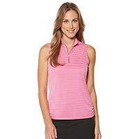 Women's Grand Slam Performance Stripe Sleeveless Golf Top