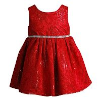Baby Girl Youngland Red Crochet Lace Dress