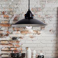 Catalina Bronze Finish Metal Farmhouse Pendant Lamp