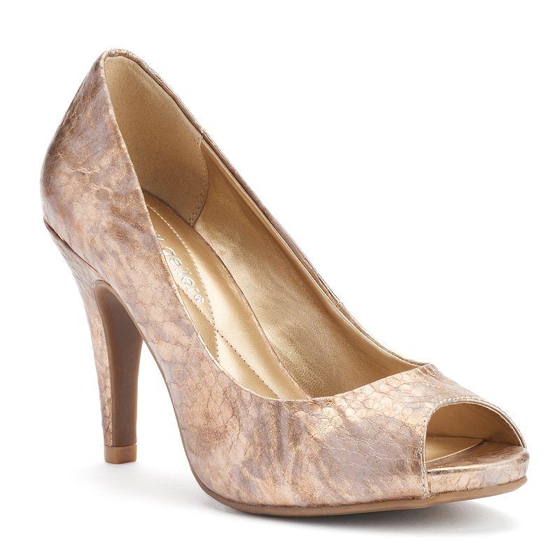 Andrew Geller Tagalong Women's Peep-Toe Heels