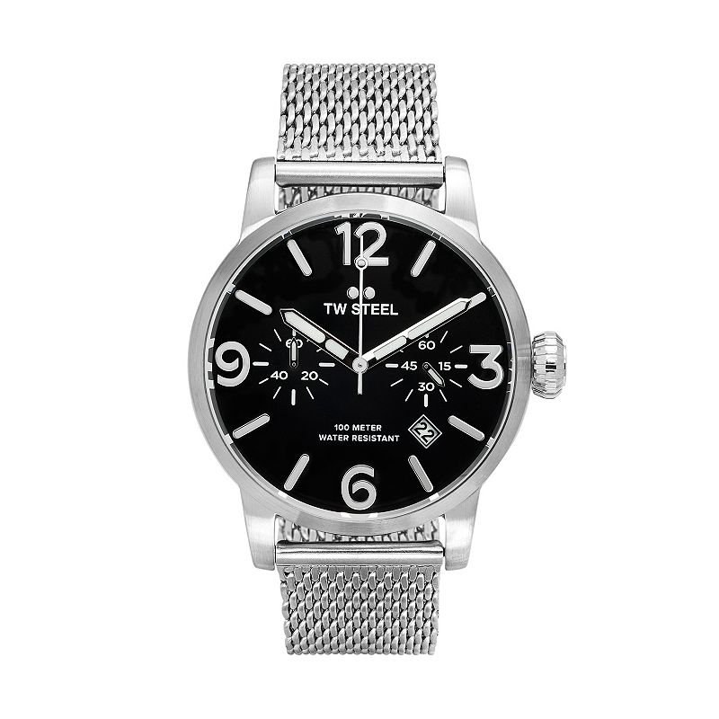 TW Steel Men's Maverick Stainless Steel Mesh Chronograph Watch - MB13