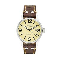 TW Steel Men's Maverick Leather Watch