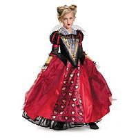 Disney's Alice Through the Looking Glass Red Queen Tween Deluxe Costume