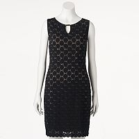 Women's Ronni Nicole Black Lace Sheath Dress