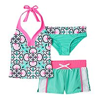 Girls 7-16 ZeroXposur Porcelain Doll Tankini Swimsuit Set