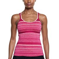 Women's Nike Filtered Striped Crossback Tankini Top