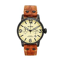 TW Steel Men's Maverick Leather Chronograph Watch