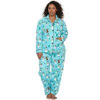Plus Size Star & Skye Pajamas: Flannel Notch PJ Set