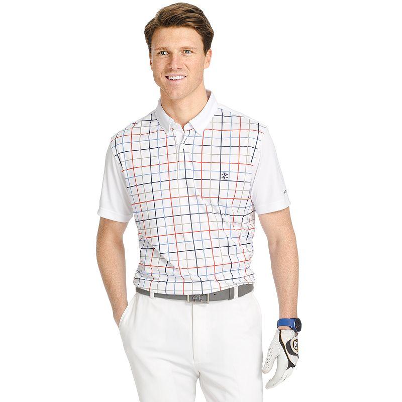 Men's IZOD Classic-Fit Tattersall Plaid Performance Golf Polo