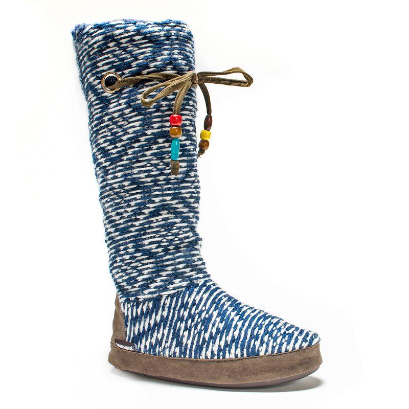MUK LUKS Women's Grace Safari Sweater-Knit Boot Slippers