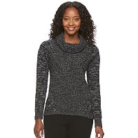 Petite Croft & Barrow® Marled Cowlneck Sweater