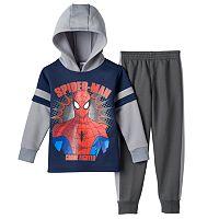 Boys 4-7 Marvel Spider-Man Mock-Layer Hoodie & Pants Set