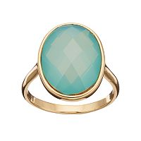 LC Lauren Conrad Blue Faceted Oval Ring