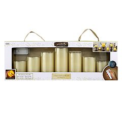 Click here to buy Apothecary & Company 7-pc. LED Flameless Candle Set with Remote.