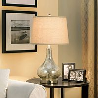 Catalina Mercury Glass Gourd Table Lamp
