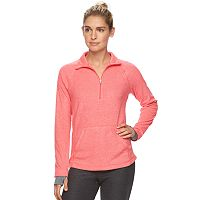 Women's Tek Gear® Microfleece Half-Zip Mockneck Top