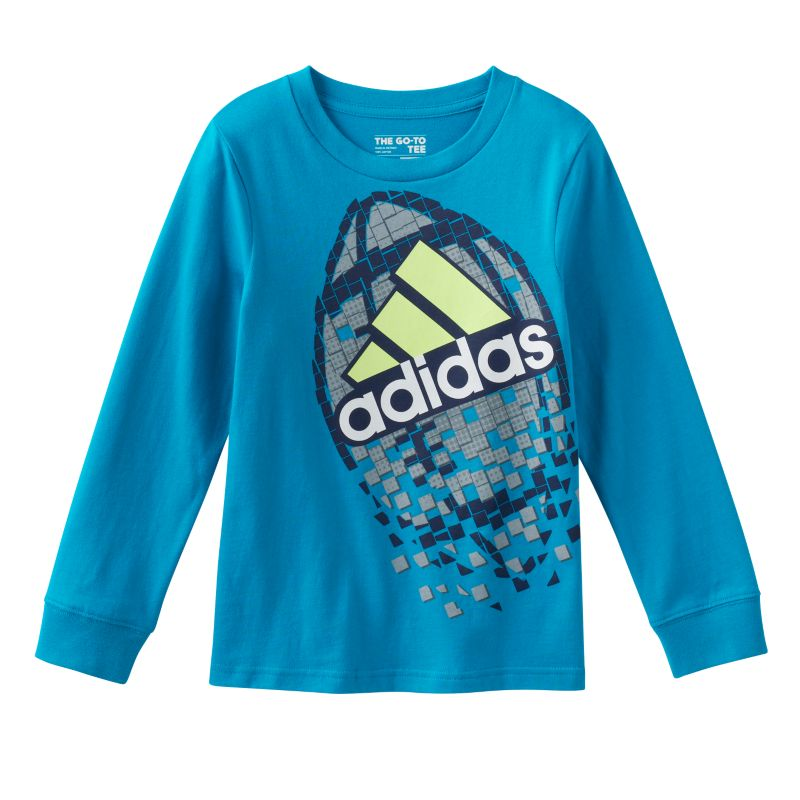 Boys 4-7x Adidas Shatter Sports Graphic Tee, Boy's, Size: 5, Turquoise/Blue (Turq/Aqua)