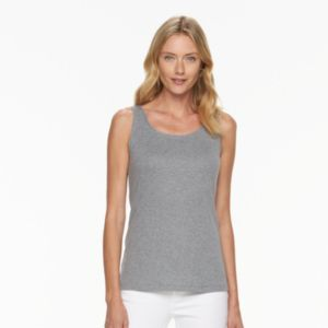Women's Croft & Barrow® Classic Scoopneck Tank