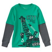 Boys 4-7x Jumping Beans® Graphic Thermal Skater Tee