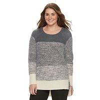 Juniors' Plus Size Cloud Chaser Vented High-Low Sweater
