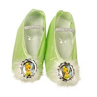 Disney Fairies Tinker Bell Kids Costume Ballet Slippers