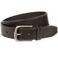 Men's Bill Adler Contrast Stitched Leather Belt