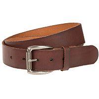 Men's Bill Adler Raw Edge Flat Strap Leather Belt