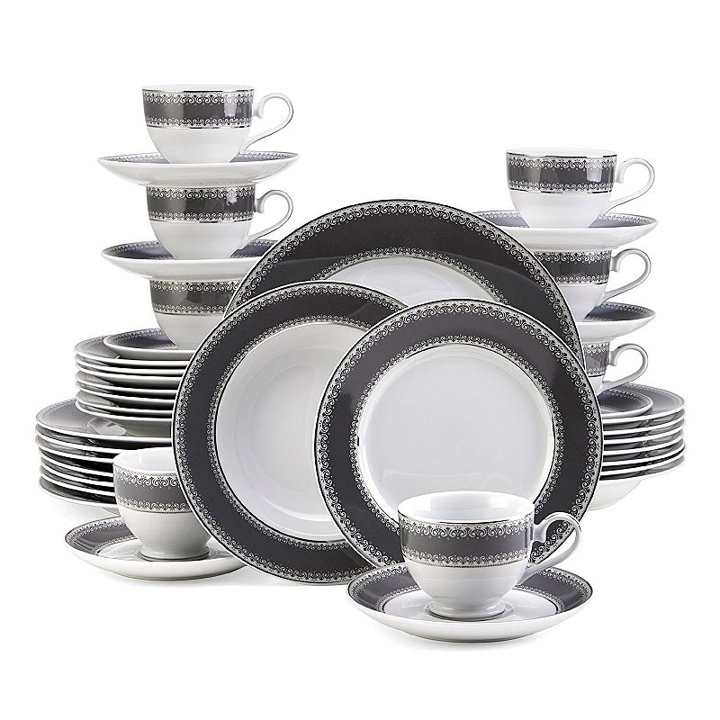 Mikasa Platinum Crown Slate 40-pc. Dinnerware Set