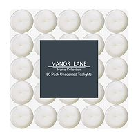 Manor Lane White Tealight 50-piece Set