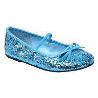 Kids Blue Sequin Costume Ballet Flats