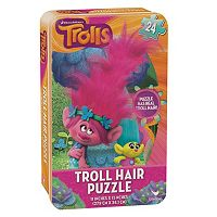 DreamWorks Trolls Hair Puzzle Tin by Cardinal