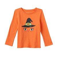 Toddler Girl Jumping Beans® Halloween Glitter Graphic Long Sleeve Tee