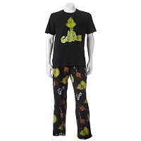 Men's Dr. Seuss Mr. Grinch Tee & Pants Loungewear Set