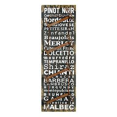 New View Wine Words Wine Rack Wall Decor by
