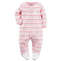 Baby Girl Carter's Striped Terry Sleep & Play