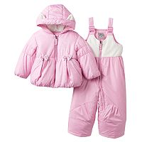 Baby Girl ZeroXposur Dottie Jacket & Bib Snow Pants Snowsuit Set