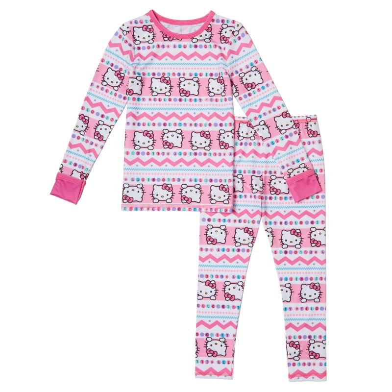 Toddler Girl Hello Kitty Cuddl Duds Top & Leggings Set, Size: 4T, White