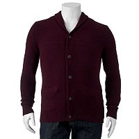 Big & Tall SONOMA Goods for Life™ Classic-Fit Wool-Blend Shawl-Collar Sweater