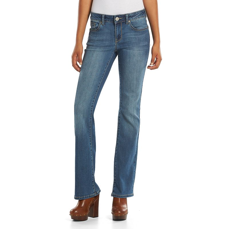 Juniors' SO® Embroidered Bootcut Jeans