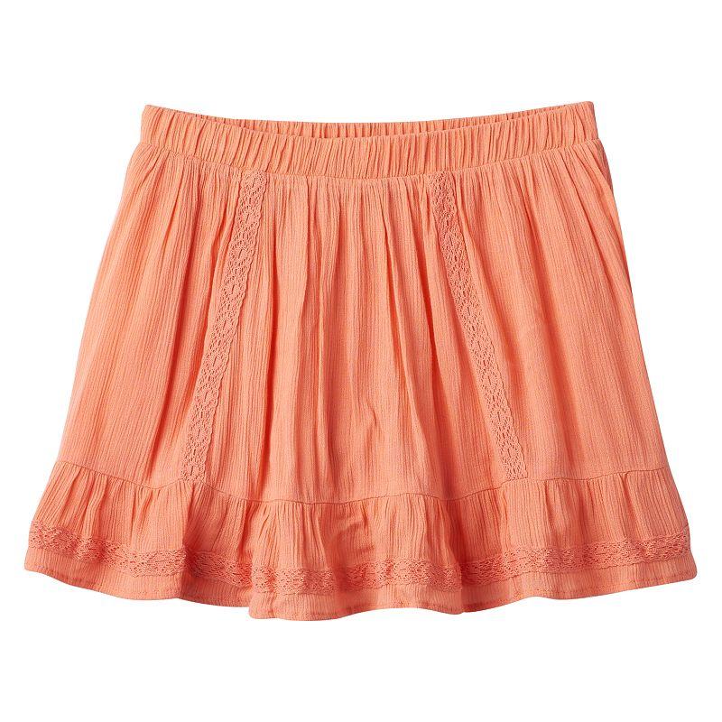 Girls 7-16 & Plus Size Mudd® Crochet Skirt