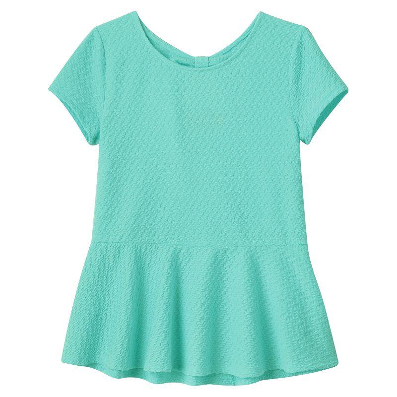 Girls 7-16 & Plus Size SO® Bow-Back Peplum Top
