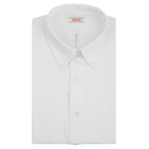 Men's IZOD Solid Twill Regular-Fit Button-Down Collar Dress Shirt