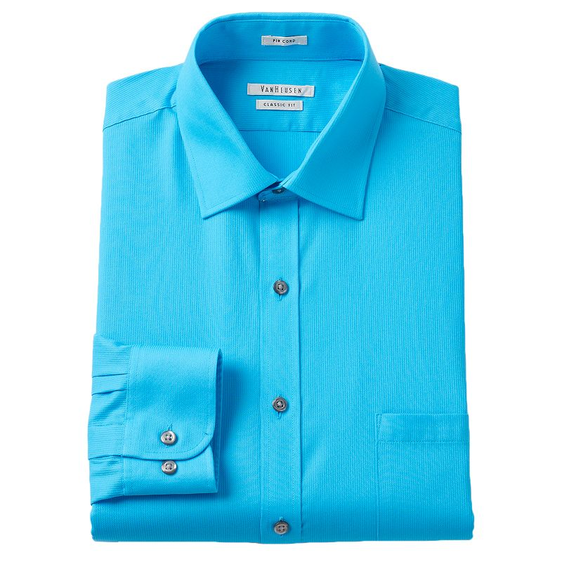 Van heusen fitted spread collar shirt kohl 39 s for Van heusen no iron lux sateen dress shirt fitted