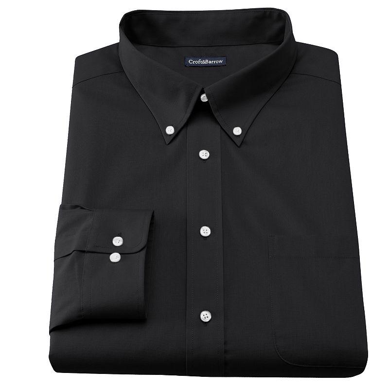 Men's Croft & Barrow® Slim-Fit Solid Broadcloth Button-Down Collar Dress Shirt