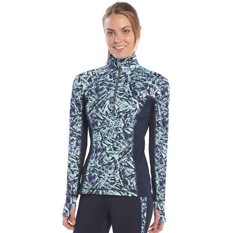 Women's Tek Gear® Raglan Quarter-Zip Workout Jacket